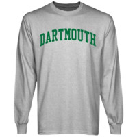 Dartmouth Big Green Basic Arch Long Sleeve T-Shirt - Ash