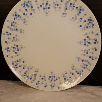 Sheffield Rhapsody 503 Salad Plates Fine China Japan Blue Flowers Pair Plates - 2- Modern Dinnerware Blue White Floral Plates Luncheon Salad