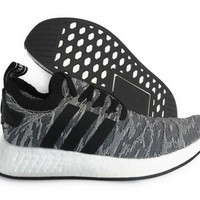 [BY9409] ADIDAS ORIGINALS NMD R2 PK GREY BLACK WHITE MEN SNEAKERS Sz 12