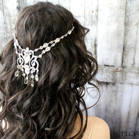 Bridal Headpiece, Bridal Headband, Hair Chain, Head Chain, Wedding Headpiece, Bridal Hair Jewelry