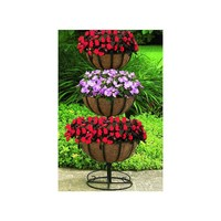 CobraCo 3-Tier Floor Planter-3TFP-B at The Home Depot