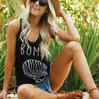Bombshell Graphic Tank Black