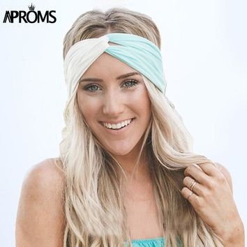 Aproms Twist Turban Headband for Women Hair Accessories Stretch Hairbands Girls Headwear Headbands Head Wrap Band Bandanas