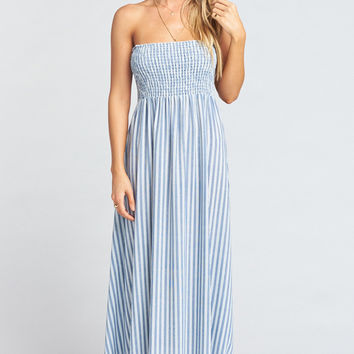 Maggie Maxi Dress ~ She Sails Stripe