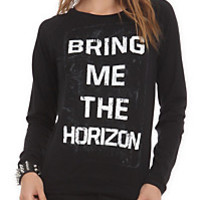 Bring Me The Horizon Logo Girls Pullover Top