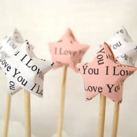 Party Picks - I Love You Lucky Stars - Set of 25 in Your Color Selection