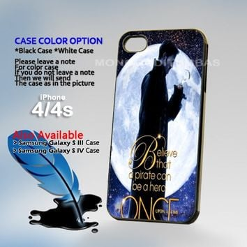 Once Upon a Time Captain Hook, Photo On Hard Plastic iPhone 4 4S Case
