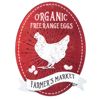 Organic Free Range Eggs Metal Sign | Hobby Lobby