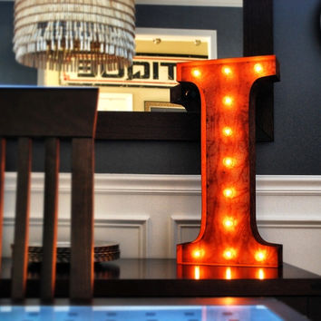 "24"" I Vintage Marquee Light Up Letter (Rustic)"