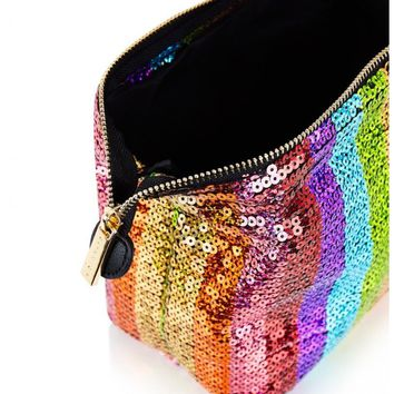 Rainbow Sequin Wash Bag