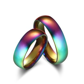 Rainbow Colorful Titanium Steel Ring