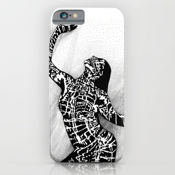 Girl In Shadow iPhone & iPod Case by MIKART