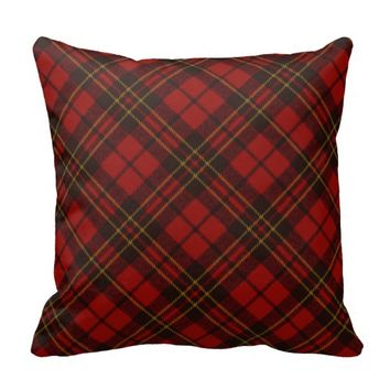 Adorable Red Christmas tartan look pillow by PLdesign