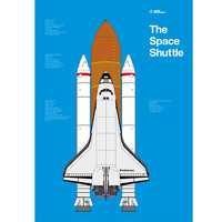 Space Shuttle by Atomic Printworks