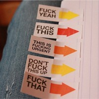 Get The Hint Advisory Tags - Loud & Clear Profanity Tags