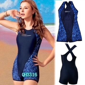 Fabulous Womens One Piece Shorts Swimsuit Sports Swimming Bathing Suit = 1956606660