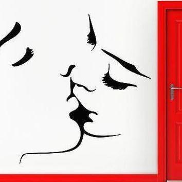 Vinyl Decal Wall Sticker Kiss Love Romantic Girl Woman Man For Bedroom Living Room Unique Gift (z1601)