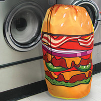 HAMBURGER HAMPER LAUNDRY BAG