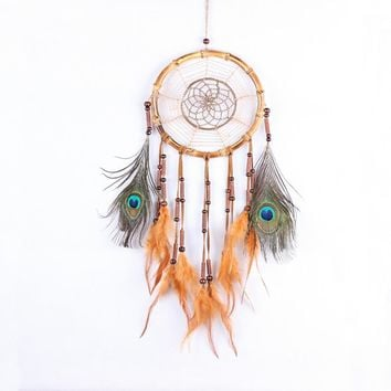 Wall Hanging Decoration India Style dream catcher with Feathers Dreamcatcher Dreamcatcher Net Hourse Decoration