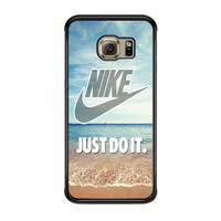 Nike Just Do It Blueean Beach Samsung Galaxy S6 Edge Case