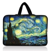 "Laptop Skin Shop 15.6 inch Laptop Sleeve Bag Carrying Case Pouch with Hidden Handle for 14"" 15"" 15.4"" 15.6"" Apple Macbook, GW, Acer, Asus, Dell, Hp, Sony, Toshiba, Starry Night"