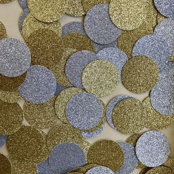 Large Gold And Silver Glitter Confetti, Glitter Confetti, Gold Confetti, Silver Confetti, Graduation Party Decor, Birthday Party