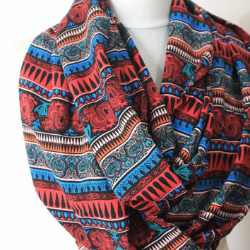 ethnic scarf,print scarf,long scarf,scarves,infinity scarf,scarf,