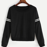 Varsity pullover fashion sweater