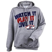 USA Hockey® Watch It Play It Grey Hoodie - ShopUSAHockey.com