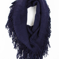 Classic Tube Scarf in Navy