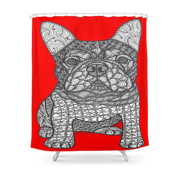 Society6 For The Love 1 - French Bulldog Shower Curtain