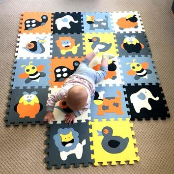 30*30*1cm Educational Baby play Mat Puzzle mat Environmental Non-toxic Crawling Mat Kids Gym Play Mat Educational