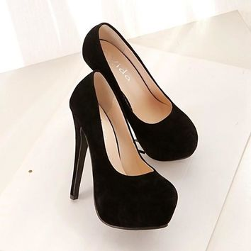 High Heel Flocking women's Heels Shoes = 5708934145