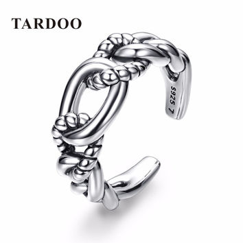 Tardoo Trendy Exquisite Adjustable Cuff Rings for Women Genuine 925 Sterling Silver Knuckle Ring Fine Jewelry