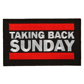Taking Back Sunday Men's Embroidered Patch Black