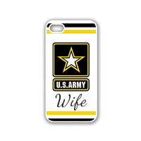 US Army Wife Star iPhone 5 White Case - For iPhone 5/5G White - Designer TPU Case Verizon AT&T Sprint