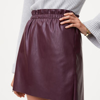 Faux Leather Shift Skirt | LOFT