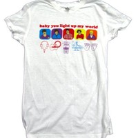 1D T-shirt Baby You Light Up My World Drawn