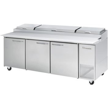 """Blue Air Heavy Duty 30.8 Cu Ft. Refrigerated Pizza Prep Table 94"""" with 12 Pans"""