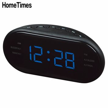 HomeTimes Fashion Modern AM/FM LED Clock Radio Electronic Desktop Alarm Digital Table Clocks Snooze Function For Home Office -48