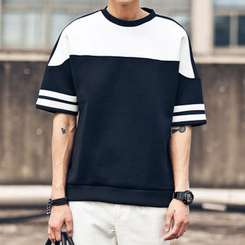 White And Black Stripe 3 Quarter Neoprene Shirt