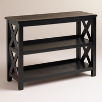 Antique Black Verona Two-Shelf Bookshelf - World Market