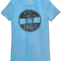 NEW! Sing It Recycled T-Shirt: Soul Flower Clothing
