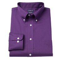 Croft & Barrow Slim-Fit Solid Broadcloth Button-Down Collar Dress Shirt - Men, Size: