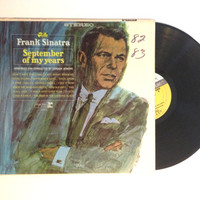 Album Record Frank Sinatra September Of My Years Vinyl LP 1968 Big Band Rat Pack Hello Young Lovers