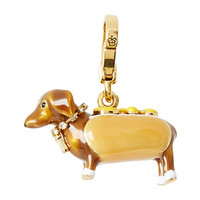 Juicy Couture Juicy Charm Dachsund In A Hot Dog Bun Charm