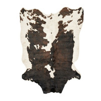 Faux Cow Hide Rug in Dulce de Leche