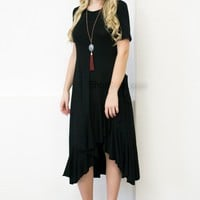 Black Flamenco Dress