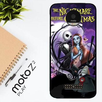 Jack And Sally Muertitos The Nightmare Before Christmas C0092 Motorola Moto Z2 Play Case