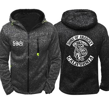 Skull Sons of Anarchy Zipper Casual Hoodie